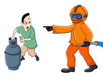 原创元素手绘消防安全漫画