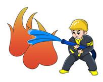 原创元素手绘消防员