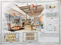 餐厅木质室内装修设计