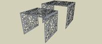 雕刻框架SU模型