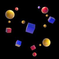 方形圆形漂浮元素