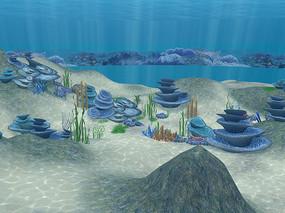 海底景观3D模型 max
