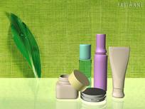 化妆品瓶子模型