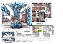 科技感的家具卖场设计