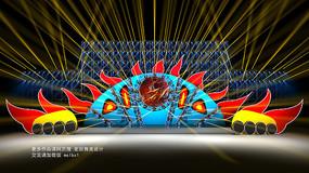 麦田舞美设计太阳星球音乐节舞美效果图