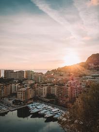 清晨日出风景图