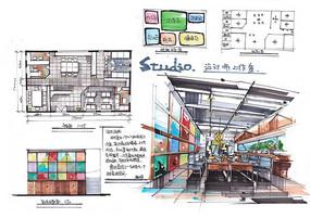设计师工作室空间设计 JPG