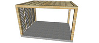 四方镂空廊架SU模型