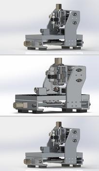 四轴数控铣床Solidworks模型