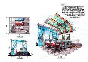 田园风格餐厅设计