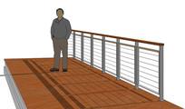 线性栏杆skp模型