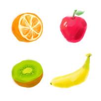 原创元素清新水彩水果