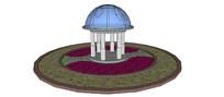 园林现代景观亭SU模型