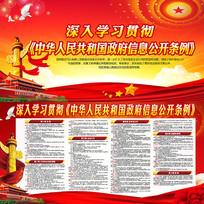 中华人民共和国政府信息公开条例展板