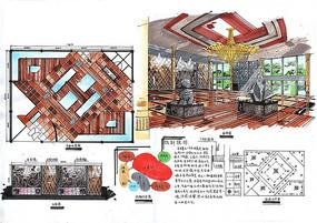 中式会所室内设计
