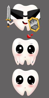 創意可愛卡通牙齒