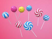 可爱糖果棒棒糖元素
