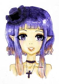 原创动漫女生漂亮可爱萌头像元素