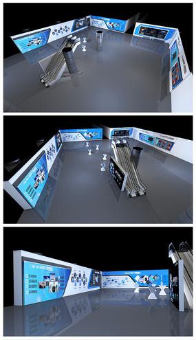原创科技展厅效果图