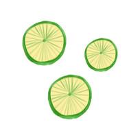 原创手绘柠檬水果元素