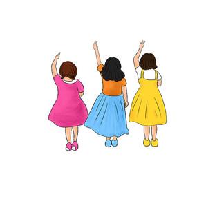 原创手绘女孩背影梦想招聘奋斗毕业季元素