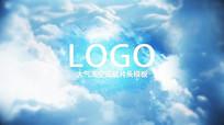 PR模板天空云层大气logo视频模板