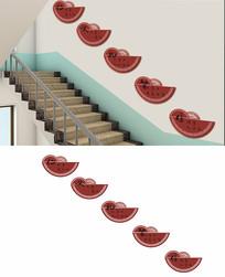 传统文化楼梯文化墙