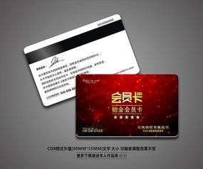 红色喜庆会员卡模板设计 CDR
