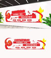 民族团结文化墙设计