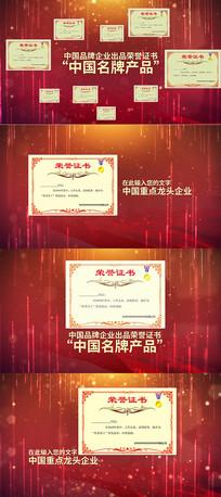 企业证书奖状AE模版