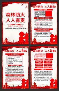 森林防火宣传展板
