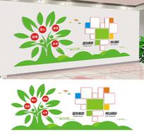 心形照片墙企业文化墙设计