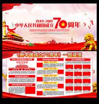 中华人民共和国成立70周年辉煌历史展板