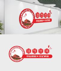 党建室对党忠诚文化墙