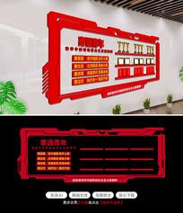 大气寄语青年党建荣誉墙文化墙