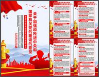 加强和改进中央和国家机关党的建设意见展板