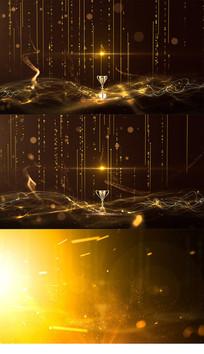 金色颁奖粒子背景视频模板