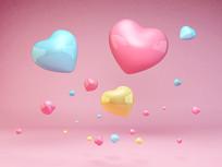 情人节心形可爱气球元素