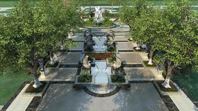 园林中心广场水景模型 max