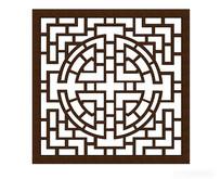 中式传统纹样漏窗