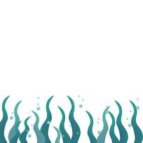 海带海草边框
