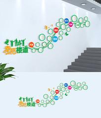 简约社区楼梯居民风采文化墙