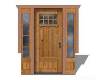 木质中式组合入口门