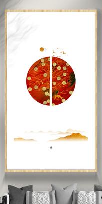 色彩新中式彩色挂画