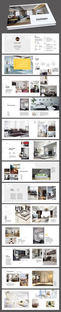 室内家居家俱装饰产品案例展示画册