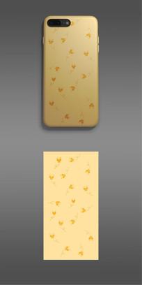 手机壳  小清新蝴蝶纹理图案设计