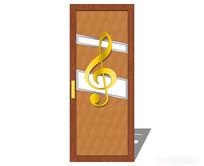 音乐元素室内门模型