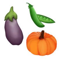 原创元素手绘蔬菜1
