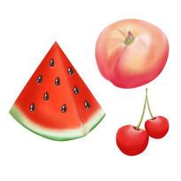 原创元素手绘水果2