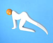 运动健身简约小人
